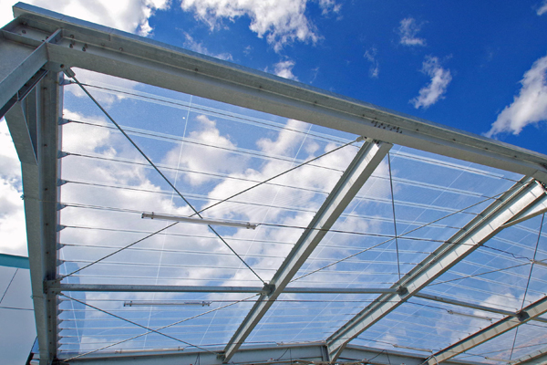 Covering Made Of Etfe Foil For Courtyards Buitink Technology
