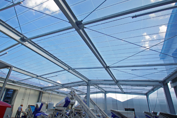 Covering Made Of Etfe Foil For Courtyards